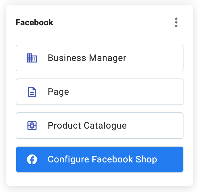 Facebook Configure Facebook Shop