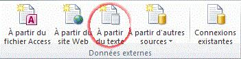 importer un fichier texte en Excel