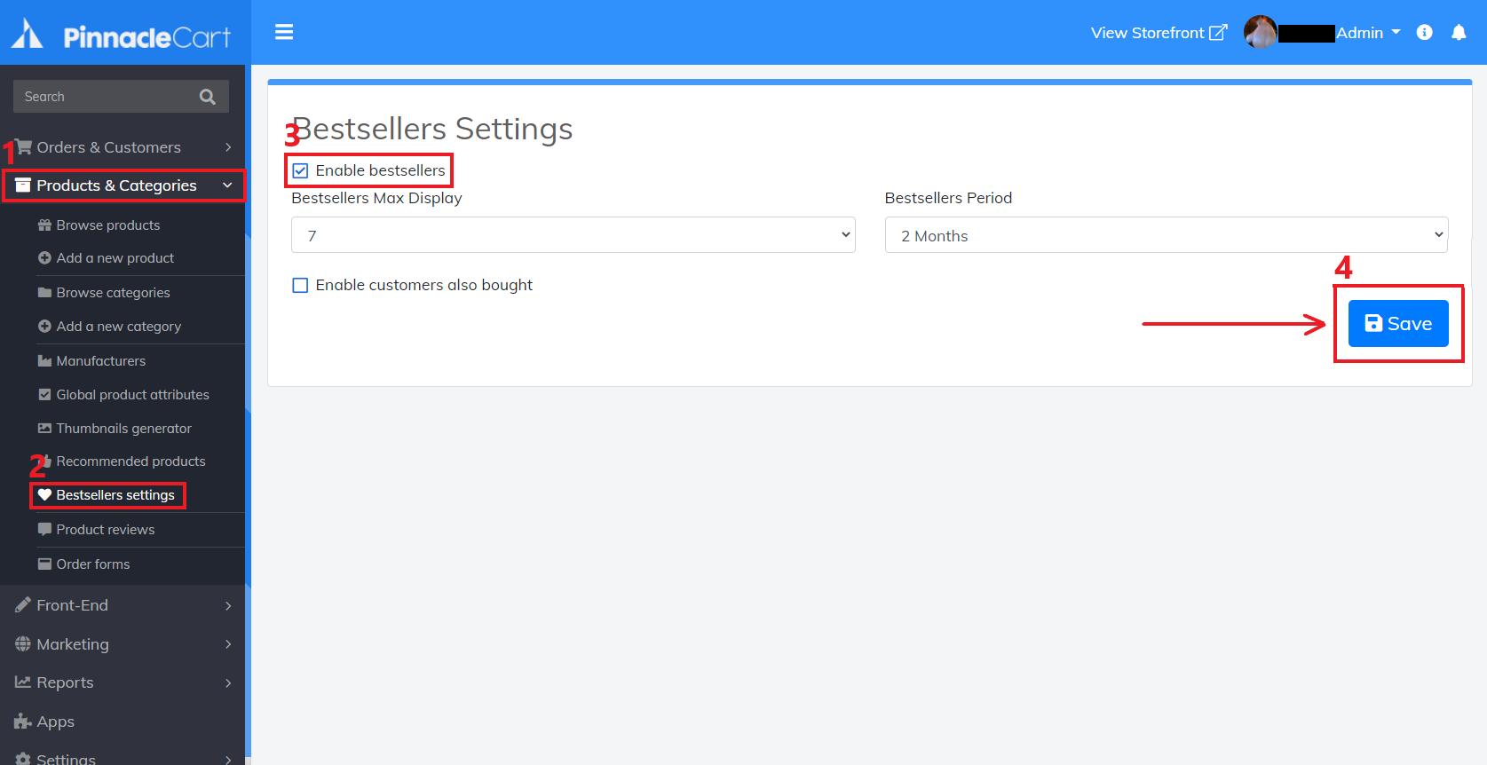 bestsellers-settings