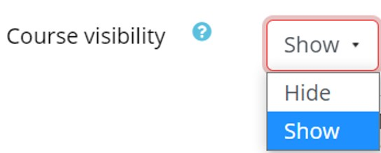 Course visibility options