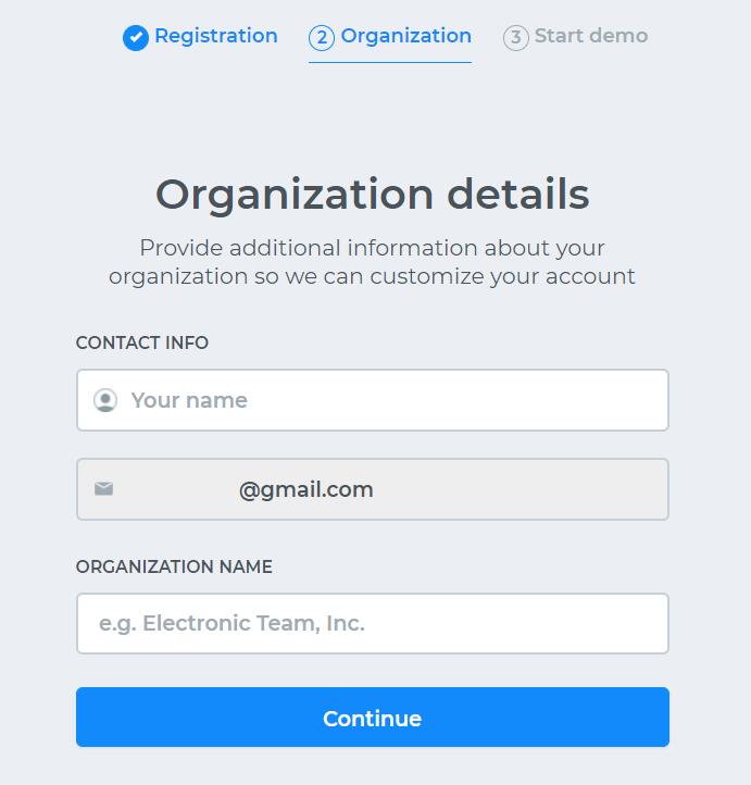 Team account setup