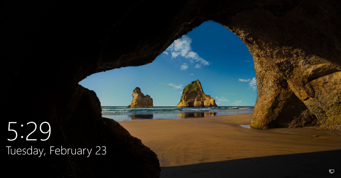 A picture containing nature, cave, hole, arch  Description automatically generated