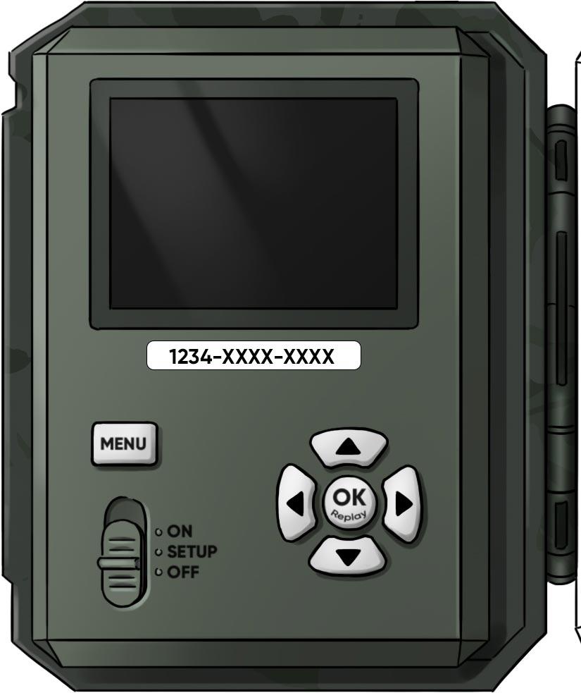 Camera mit Sticker