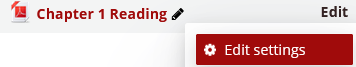 Edit settings button