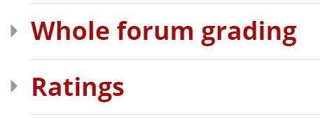 Forums can be graded by whole forum grading or ratings