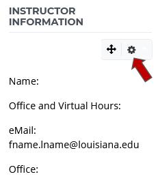Instructor Information Block