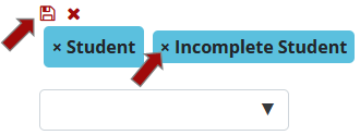 Remove Incomplete student option and click save