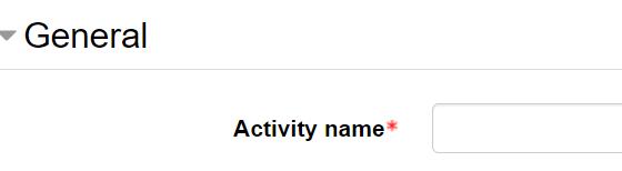 Activity name textbox