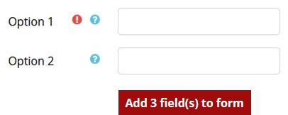 Option fileds