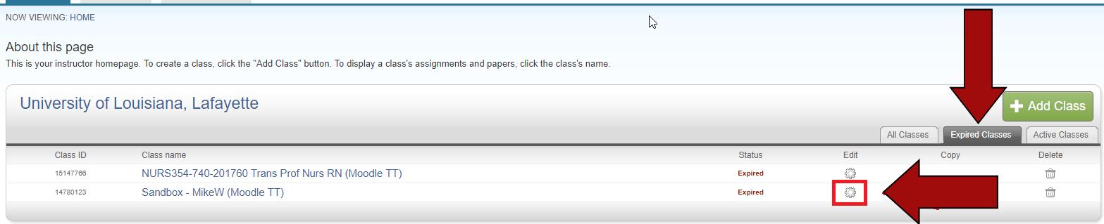 Expired classes