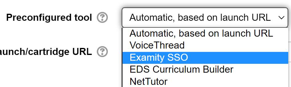 Examity preconfigured tool