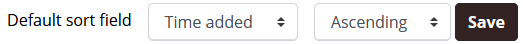 Default sort field option