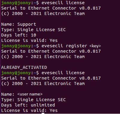 Linux Activation