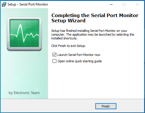 Serial Port Monitor is successfully installed