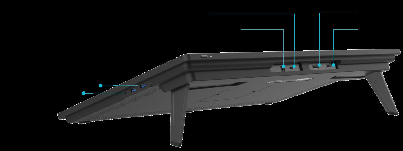 USB-C Ports of Kamvas 22/Kamvas 22 Plus