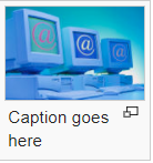 "example image in a thumbnail, caption says: ""caption goes here"""