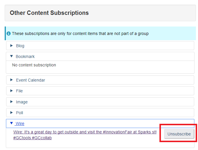 other content subscriptions