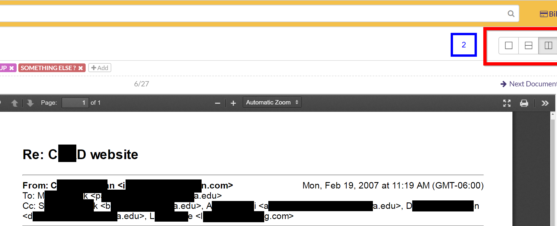 Change location of email context