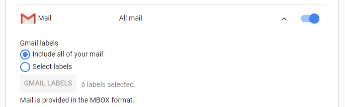Select all mail or specific labels