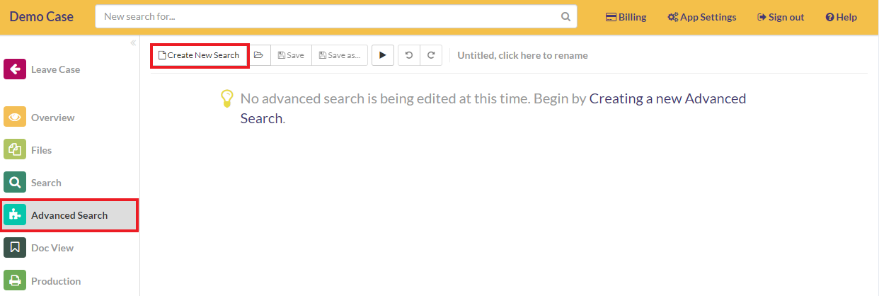 Create a new search query
