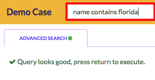 Perform a name search from the search bar
