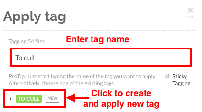 Create and assign a new tag