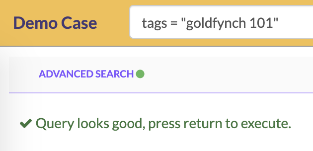 Searching by tags from the search bar