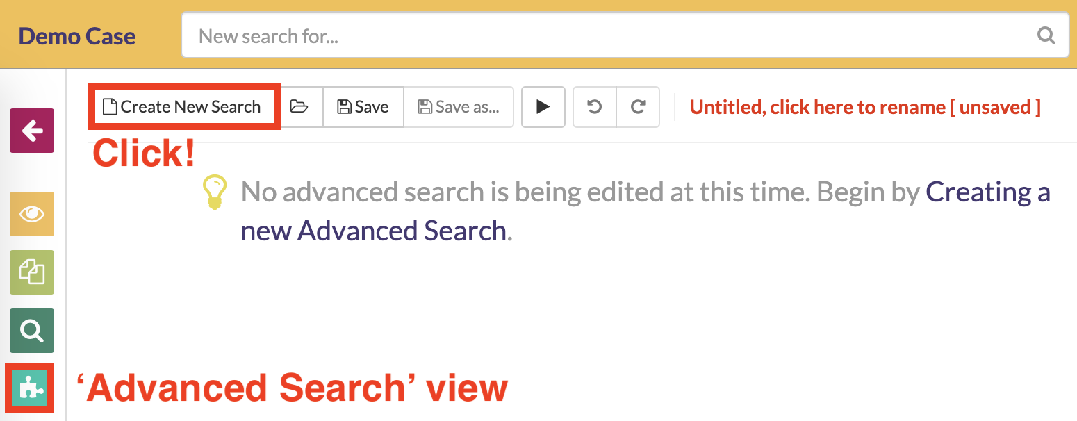 Navigate to the Advanced Search view
