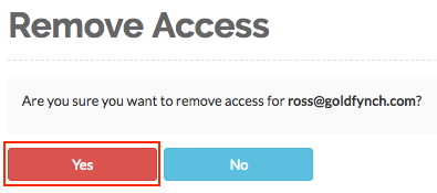 Remove access for a user