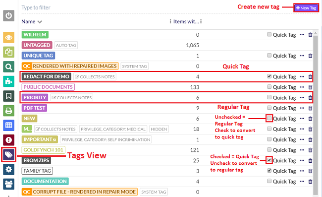 Convert Tag to Quick Tags