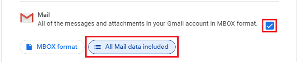 Select the Gmail option