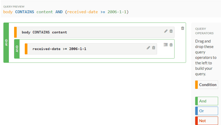 Add an additional date condition to the quer
