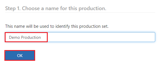 Enter a name and click on OK
