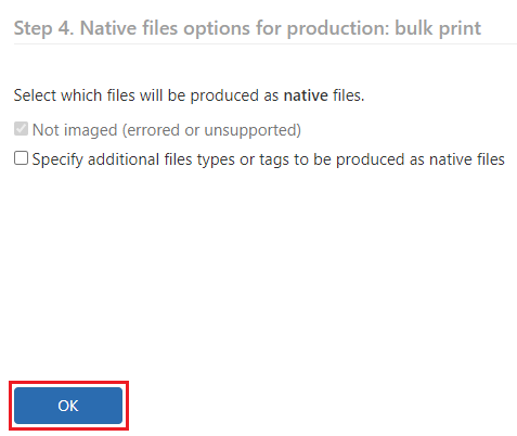 Click on the Ok button without making any selections