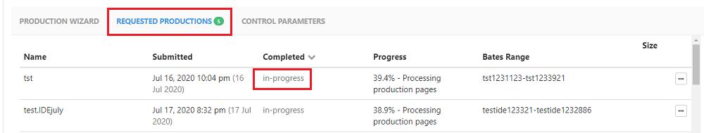 Track production status