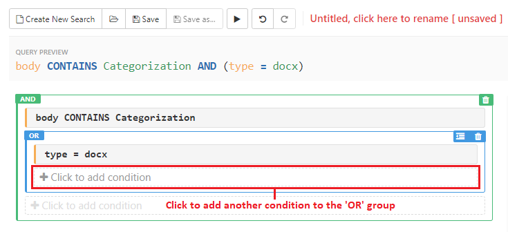 Click to add another condition to the 'OR' group