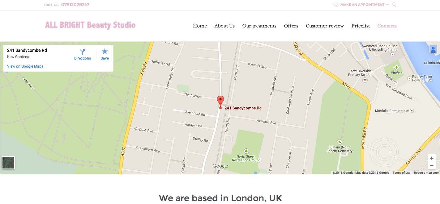 How to change the Google map in the Contact Us page multi