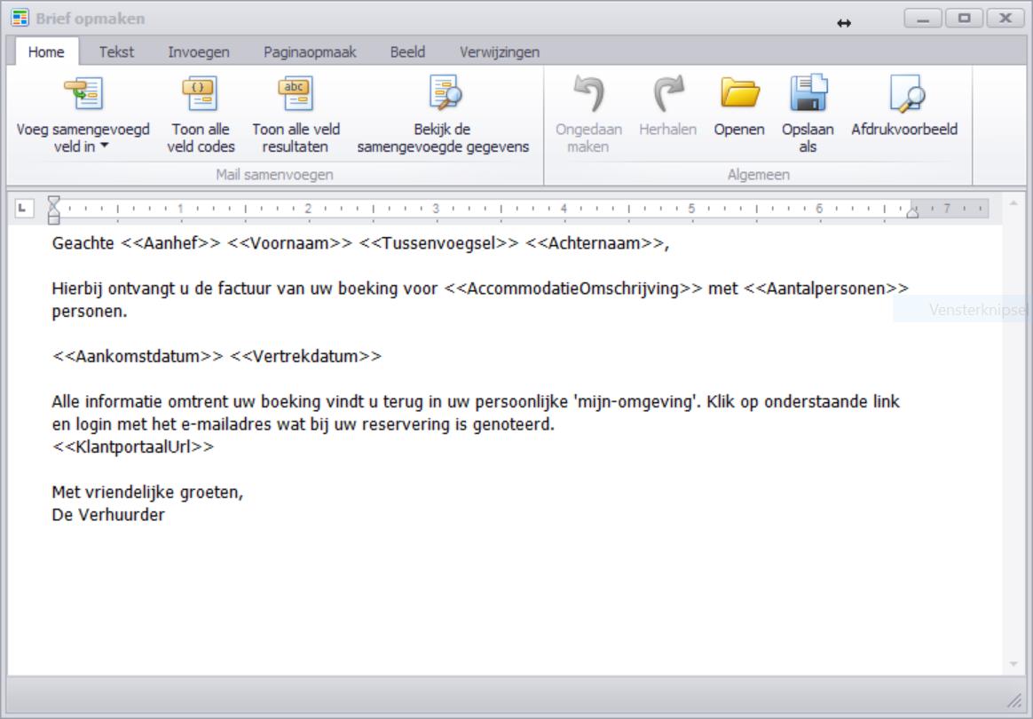 voorbeeldbrief reservering Standaard e mailbericht bij documenten (bevestiging, factuur  voorbeeldbrief reservering