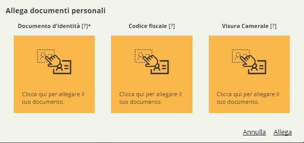 Allega documenti personali