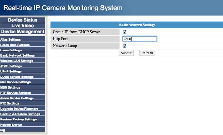 Setup port forwarding for your Foscam IP cameras and