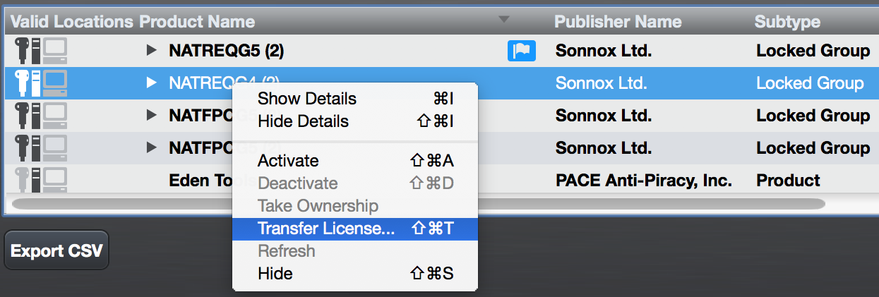 How do I move my licences onto a different iLok device