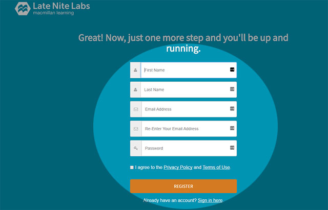 Late Nite Labs Sign Up : Help Desk