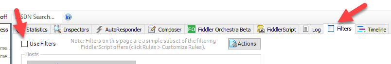 Enable Filters