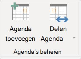Deel uw agenda met een andere persoon.