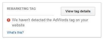 Tag Not Detected