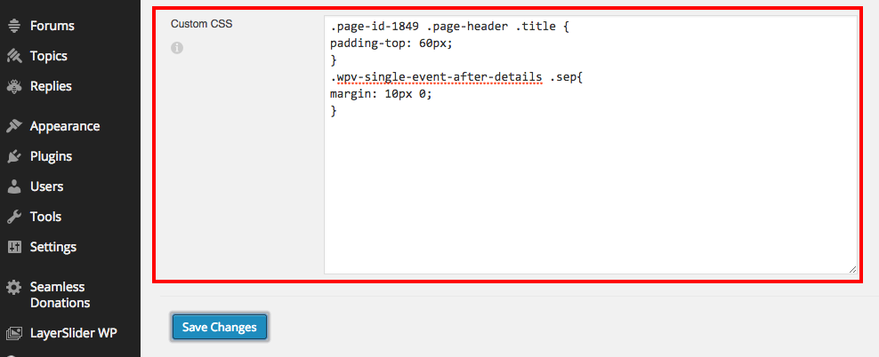 How to add custom CSS / PHP code or modify the theme code