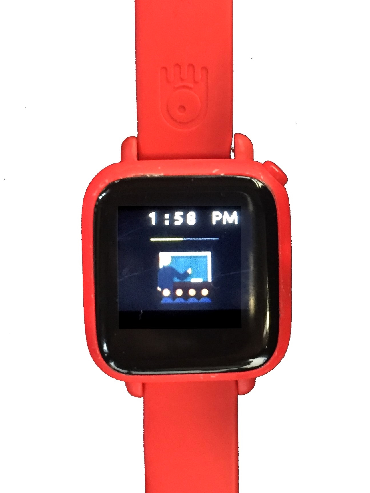 Octopus Watch with icons face. Icon watch for kids