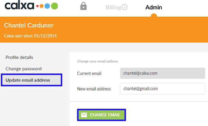 Update email address
