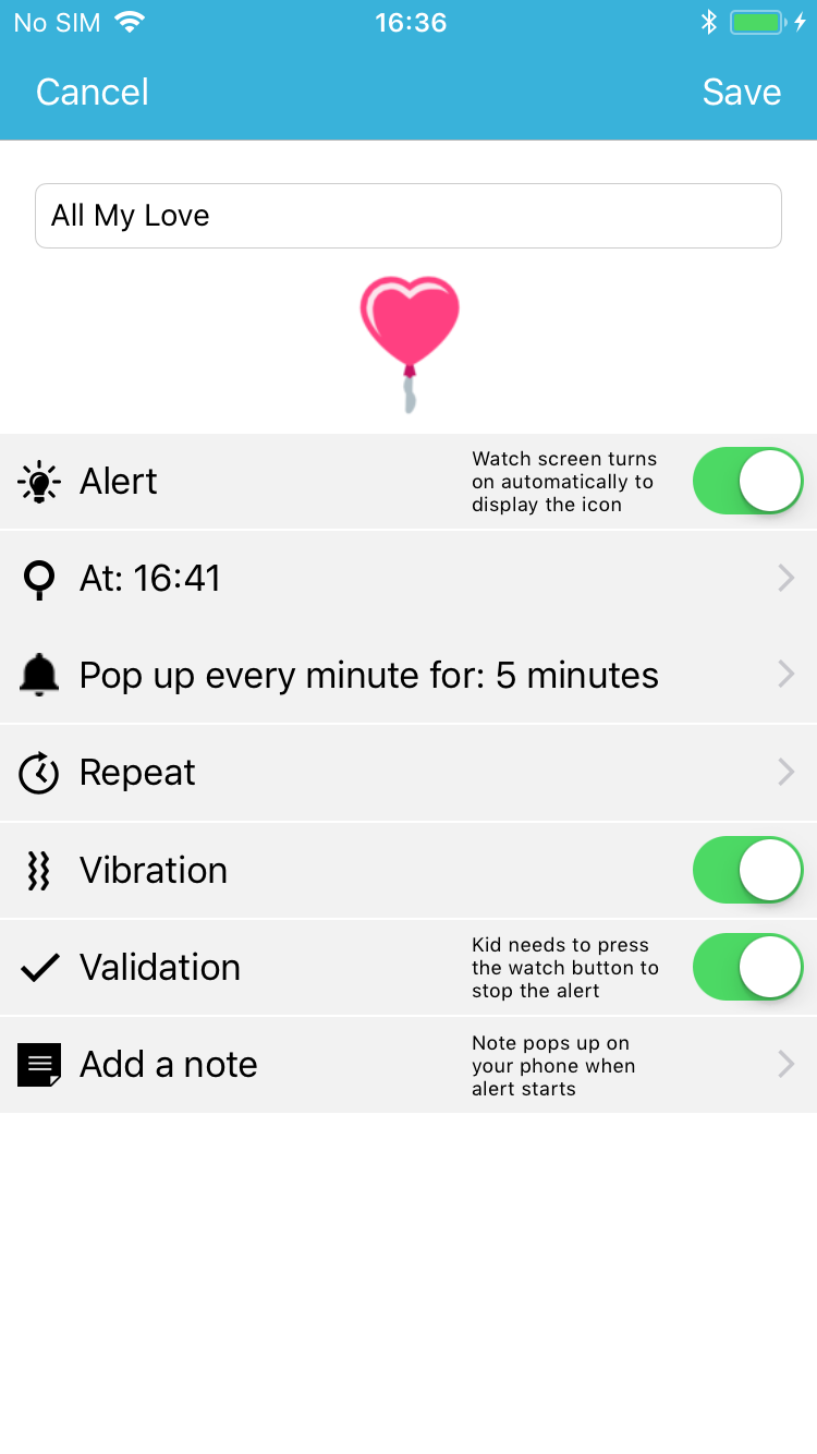 Octopus Watch app: scheduler screen, add a new time period
