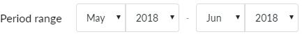 Export period range 2 months